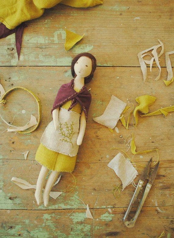 Cloth doll by Willowynn / made to order by willowynn on Etsy