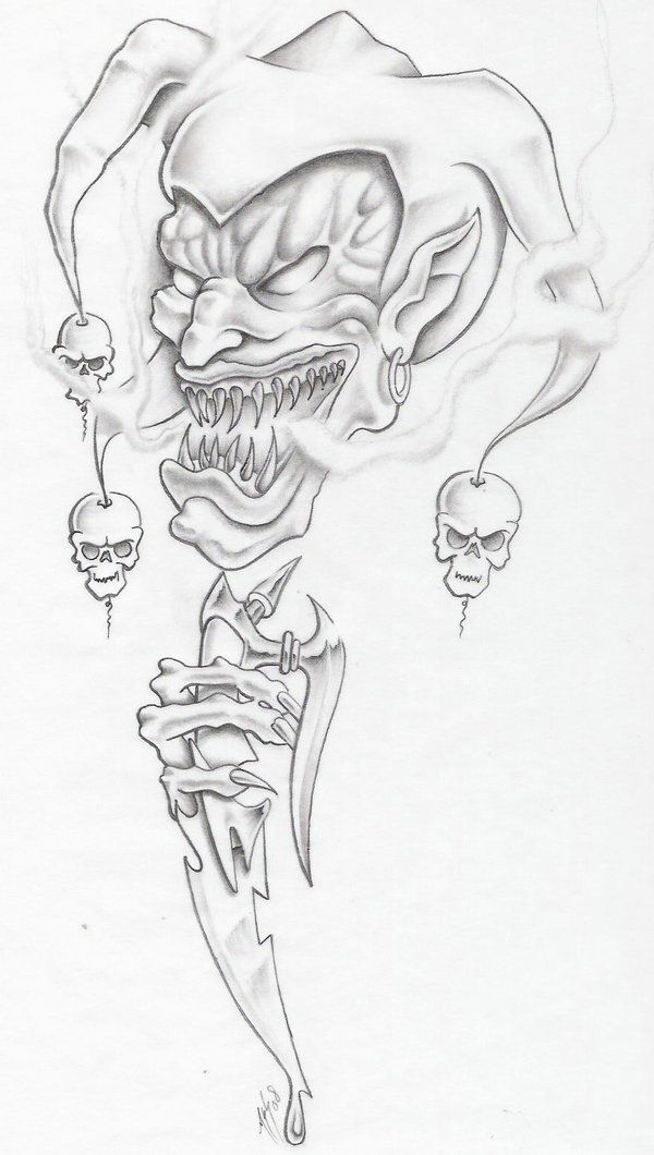 evil jester by markfellows.deviantart.com on @deviantART