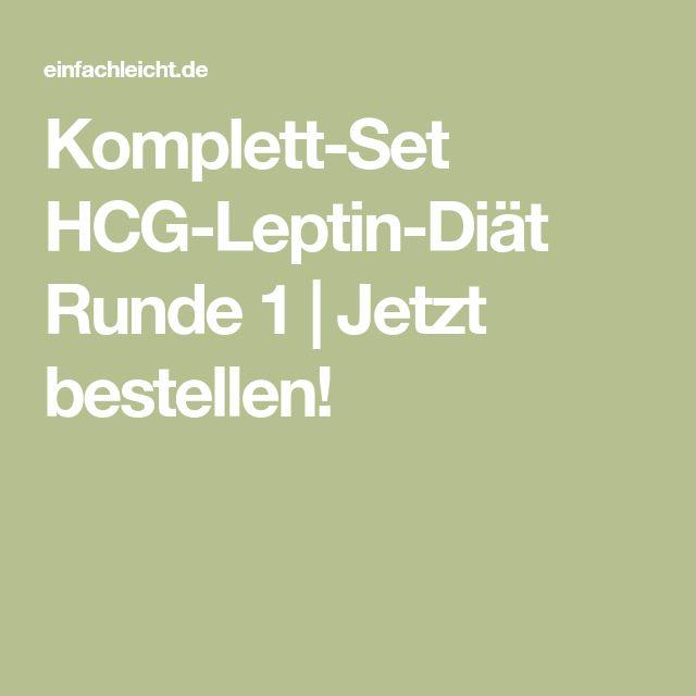 Komplett-Set HCG-Leptin-Diät Runde 1 | Jetzt bestellen!