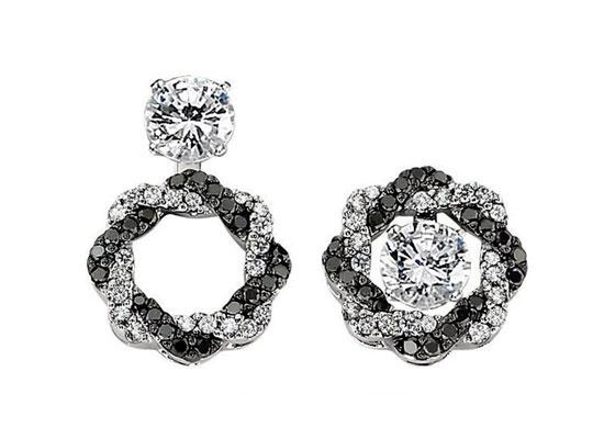 Black Diamond Convertible Earrings
