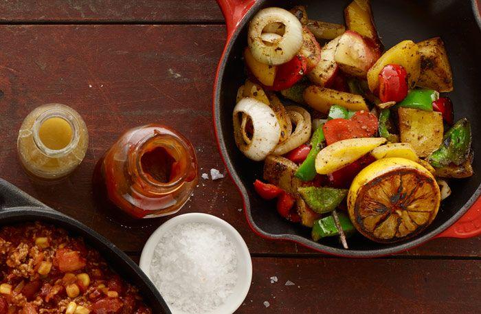 Sätt färg på middagen med grönsaker Texas style