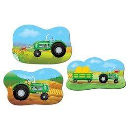 Boerderij decoraties Tractor cutouts -  Drie verschillende decoraties van tractors. Leuk voor een verjaardag, boerderij feest, of gewoon als decoratie in een kinderkamer. Afmeting: 45cm.