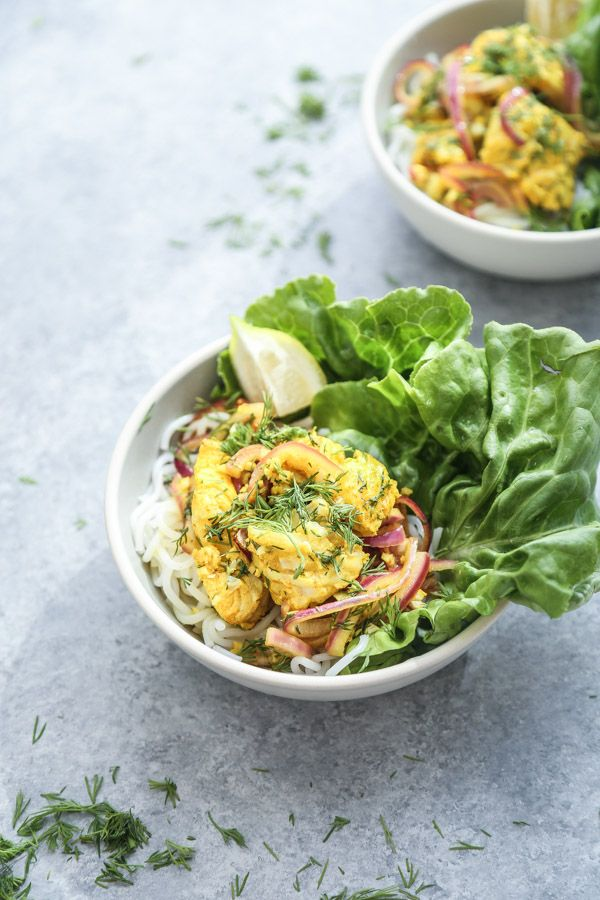 Vietnamese Fish with Turmeric-Dill Sauce (Cha Ca La Vong) - Feed Me Phoebe