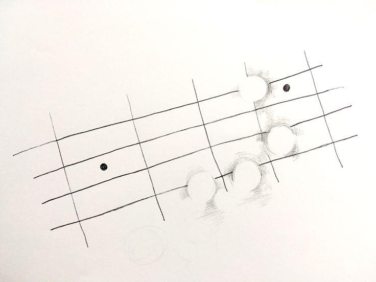 가장 좋아하는 악기인 베이스를 연주하는 모습을 나타냈다. 같은 기타의 모양이지만 줄이 두개 부족하고 주의깊게 듣지 않으면 쉽게 알아차릴 수 없는 소리를 가진것이 베이스의 특징이다. 눈에 튀지않는 악기임에도 없으면 허전한 악기의 특성을 살려 코드를 잡는 부분은 비워 그 주변을 은은하게 나타냈다.