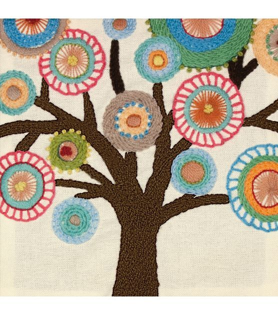 Dimensions Handmade Collection Tree Crewel Embroidery Kit at Joann.com - be great in felt (penny rug style)