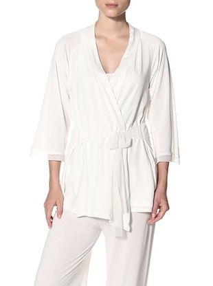 Between the Sheets Women's Playdate Robe (Ivory)