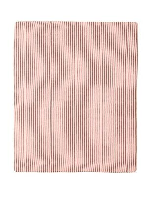 70% OFF Coyuchi Mini Stripe Cotton/Linen Fitted Sheet (Natural with Brick)