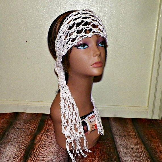 On Sale Cotton Hippie Headband Irish Lace by wildirishrosecrochet