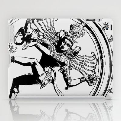 Natraj Dance - Mono iPad Case by Vee Ladwa - $60.00
