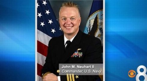 Cmdr. John Michael Neuhart II is on trial in San Diego Superior Court on three counts involving assault with intent to commit rape, as well as burglary for allegedly forcing his way into the woman's home, and resisting arrest afterward. He could spend life in prison if convicted of the most serious charge.