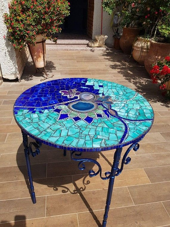 Mosaik Tisch Mosaic Furniture Mosaic Tile Table Mosaic Table