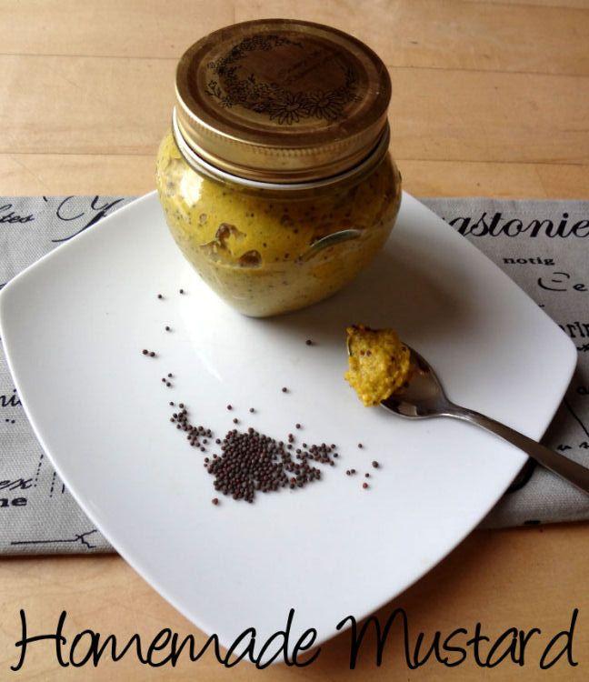 Mosterd zelf maken, lekker met honing toevoegen