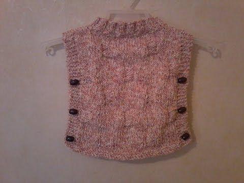 Tuto tricot pull poncho bébé - YouTube