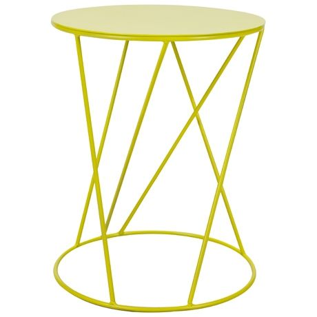 Spaghetti Occasional Table Limited Edition Neon Yellow