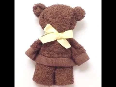 A bear made from a towel● 5-Minute Crafts - YouTube