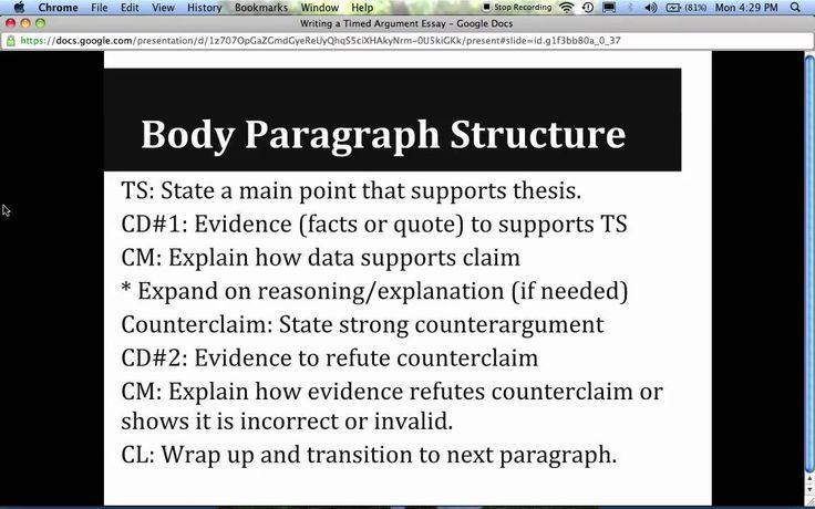 in-class essay exam tips