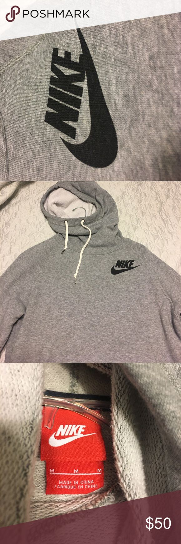 Nike Grey drawstring sweatshirt hoodie Grey, Nike hoodie--super soft and cozy Nike Tops Sweatshirts & Hoodies