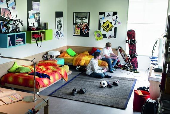 1000 ideas about teen boy bedrooms on pinterest boy for Funky boys bedroom ideas