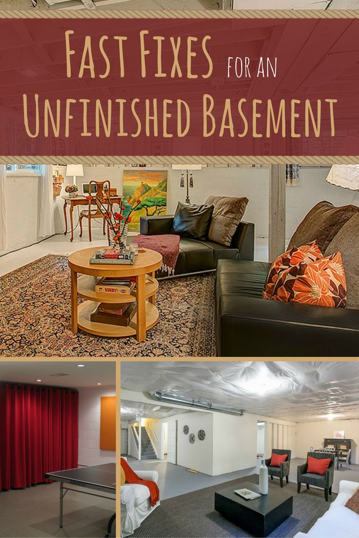If you have an unfinished basement, you probably don't want to spend a ton of time down there. The air is musty, the floors are damp, and it feels just a tiny bit creepy. Luckily, there are some simple ways to get the feel of a finished basement without shelling out thousands of dollars. Here are 10 ways to turn your basement into a space where the entire family will want to hang out.