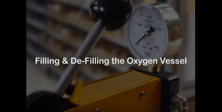 FILLING & DE FILLING THE OXYGEN VESSEL - DDS CALORIMETERS