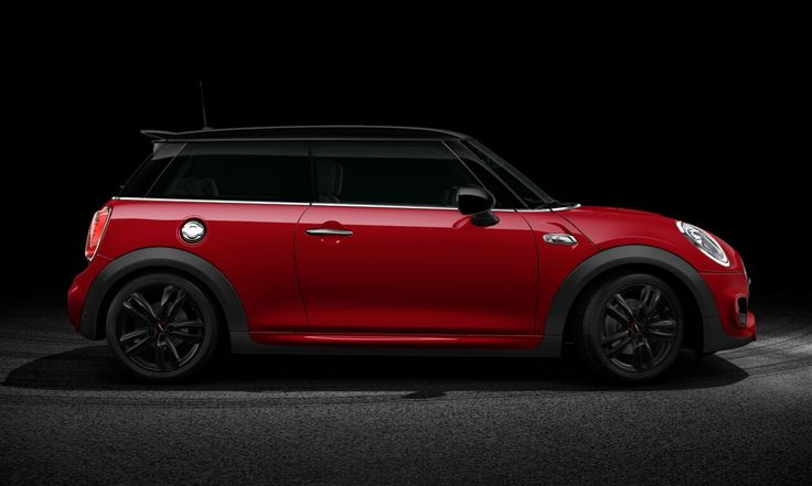 side view of f56 mini cooper sd chili red black roof with jcw external cars pinterest mini. Black Bedroom Furniture Sets. Home Design Ideas