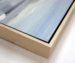 17 best images about frame for wood block on pinterest for Framing canvas paintings