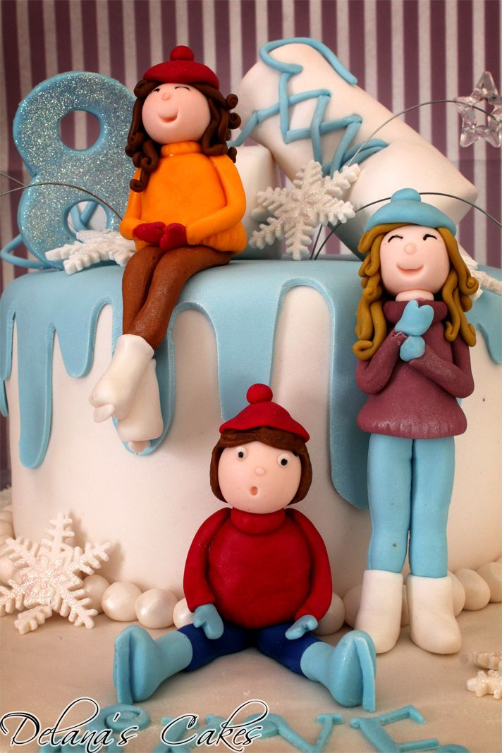 Delana's Cakes: Winter Wonderland Cake and Cupcakes
