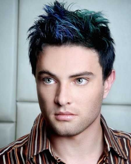 Color hair for men trend