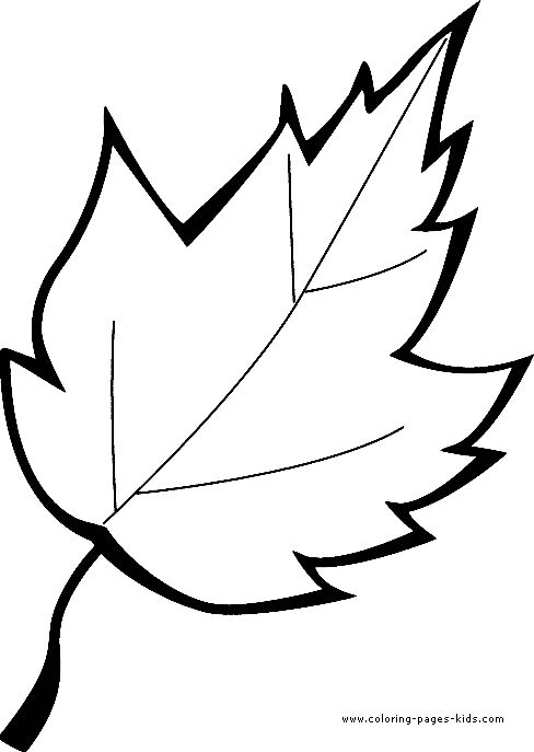 Leaf color page coloring pages