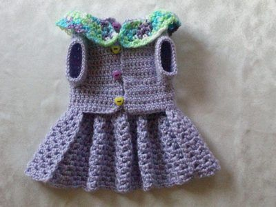 A1 PET DOG CLOTHES APPAREL SWEATER COAT HAT CROCHETED SPRING DRESS LAVENDER XS!
