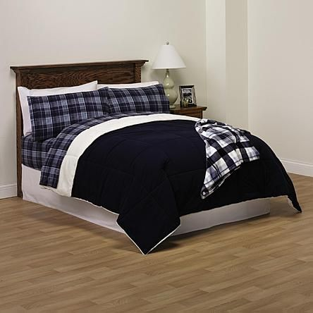 Cannon Cozyspun to Microlight Down Alternative Comforter - Peacoat