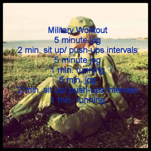 Military workout Challenge.. i'll have to remember this for a quickie