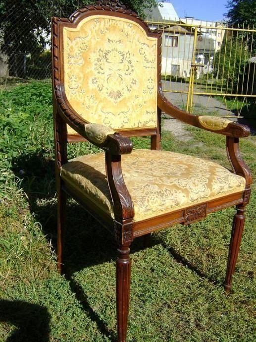 Стулья-кресла старинные. Дерево. Обивка-бархат