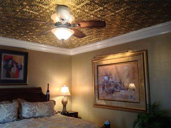 our 205 wrought iron decorative ceiling tiles design is available in several materials and finishes including black glowing copper
