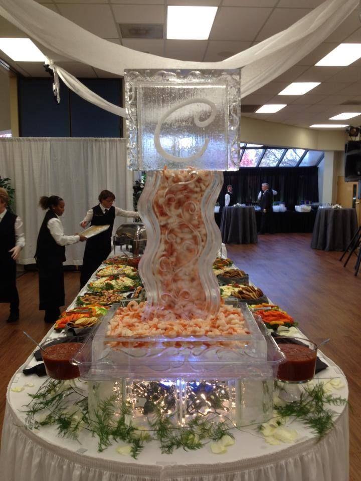 Ice sculpture for wedding of Shrimp tower, self dispensing ...