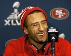"""Colin Kaepernick says he doesn't feel pressure"" NBC Sports (January 28, 2013)lets hope not!!"