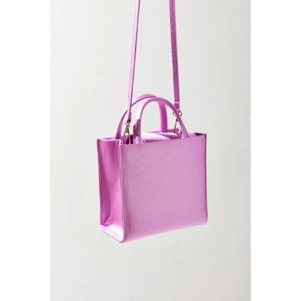 Satin Mini Tote Bag (€31) ❤ liked on Polyvore featuring bags, handbags, tote bags, mini handbags, mini tote handbag, handbags totes, urban outfitters and urban outfitters purses
