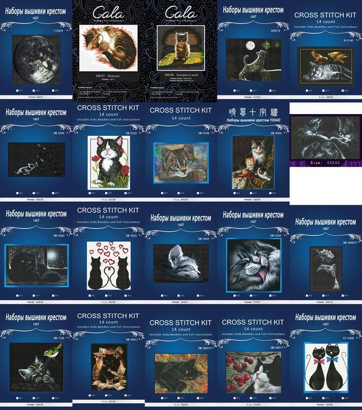 薄暗いdmc黒猫数えクロスステッチカウントdmcクロスステッチセットdiy中国綿クロスステッチキット刺繍針仕事