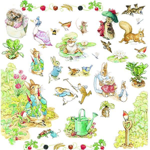 17 best images about conejos de pascua on pinterest for Beatrix potter mural wallpaper