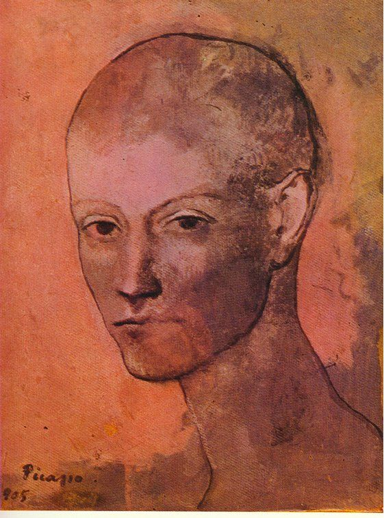 Early portrait by Picasso, one of the first paintings acquired by Leo and Gertrude Stein in Paris.