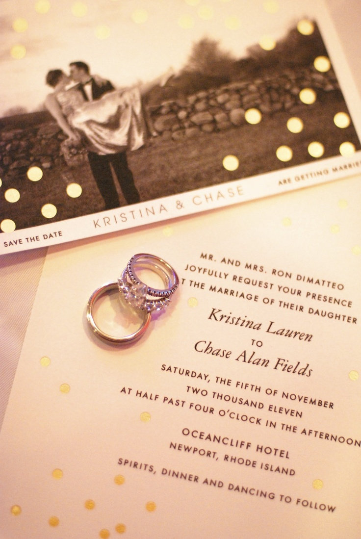 photo - save the date, invite & rings!