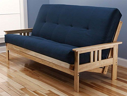 Monterey Futon Sofa In Natural Finish With Suede Navy Mattress U003eu003eu003e You Can  Get