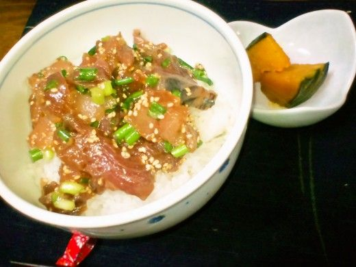 『簡単魚料理』  まぐろのポキ丼