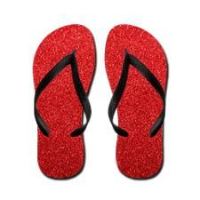 Amazing Wizard Of Oz Red Ruby Flip Flops!