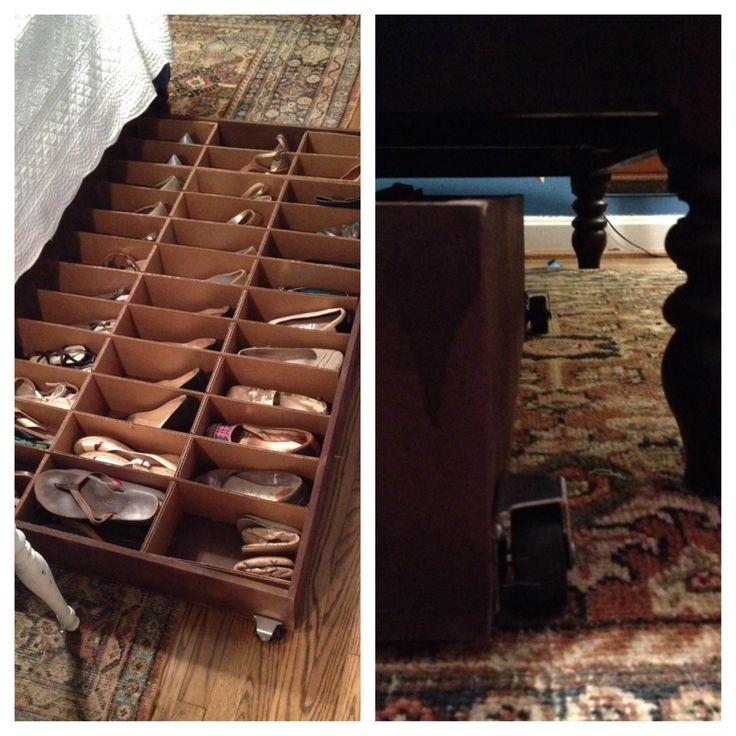 Perfect solution for my wife's shoe collection. Under bed shoe storage. The grid is customizable. It's been a hit.