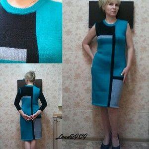 """Оживлю темку Спасибо за вдохновение!!! Платье назвала """"Геометрия"""" Вес изделия всего 302 грамма, можно сказать пристройка остатков. Было всего два моточка изумрудного цвета, от них и плясал …"""