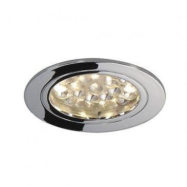 Deckeneinbauleuchte, DL 123 LED, rund, chrom, 24LED, warmweiss / LED24-LED Shop