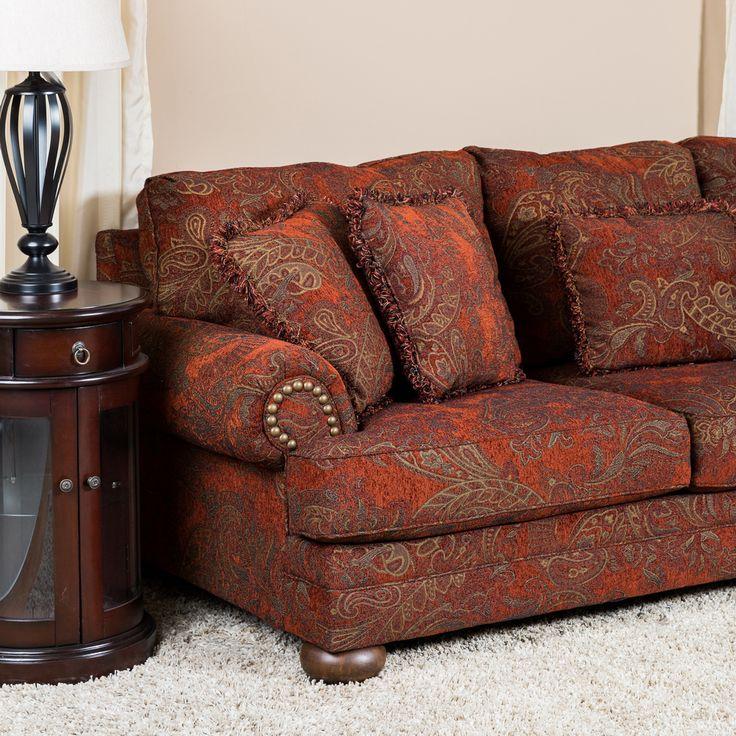Mobexpert canapea 3 locuri stofa caramiziu Windsor