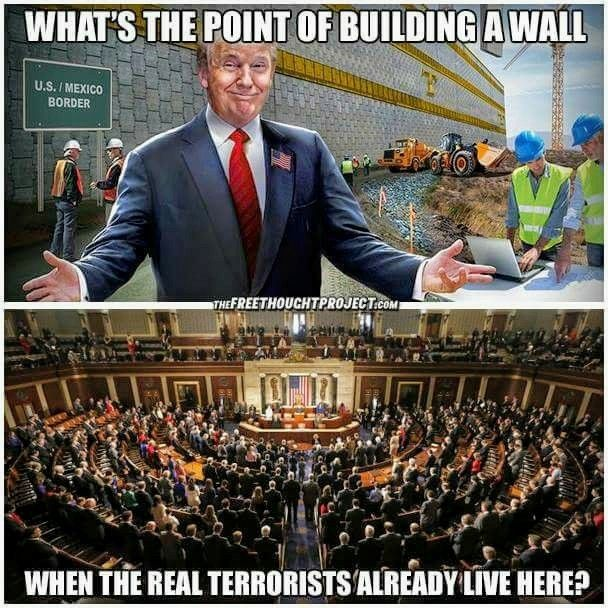 The people in office right now have caused more damage than all terrorists ever have in America.