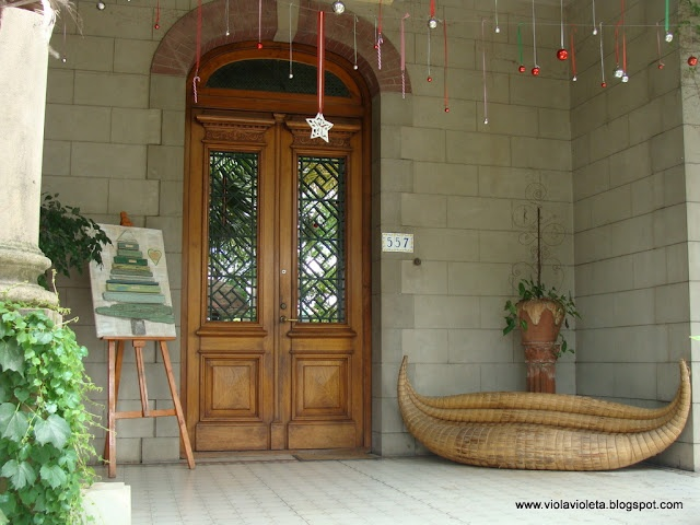 Navidad en la entrada de casa